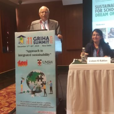 Speech of Mr. Pradip Burman at The GRIHA Summit 2019